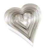 Heart cookie cutters Royalty Free Stock Image
