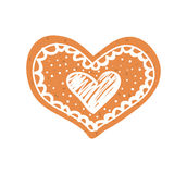 Heart cookie icon. Love design. Vector graphic Stock Photography
