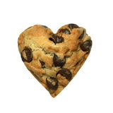 Heart cookie isolated on white background Royalty Free Stock Image