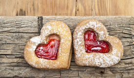 Heart of the cookie Stock Photography