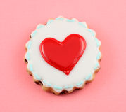Heart Cookies. Valentine's day background stock photos