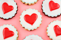 Heart Cookies. Valentine's day background stock photography