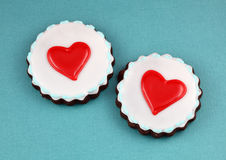 Heart Cookies. Valentine's day background stock images