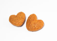 Heart cookies. Brown heart cookies on white background Stock Photo