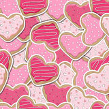 Heart cookies background Stock Image