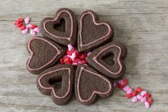 Heart Cookies in a Circle Royalty Free Stock Photos