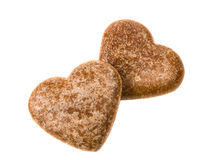 Heart cookies isolated Stock Images