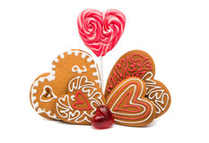 Heart cookies isolated. On white background Stock Image