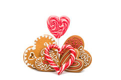 Heart cookies isolated. On white background Stock Photo