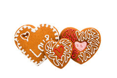 Heart cookies isolated. On white background Royalty Free Stock Images