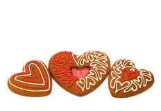 Heart cookies isolated. On white background Royalty Free Stock Photo