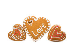 Heart cookies isolated. On white background Stock Photography