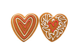 Heart cookies isolated. On white background Stock Photos