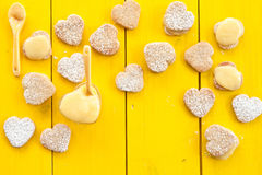 Heart cookies with Lemon Curd Royalty Free Stock Images