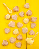 Heart cookies with Lemon Curd Stock Images