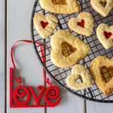 Heart Cookies made with Love Royalty Free Stock Image
