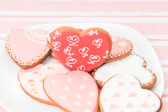 Heart cookies and presents Royalty Free Stock Photo