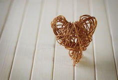 Heart of a copper wire Stock Image