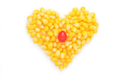 Heart of corn salad. Royalty Free Stock Image