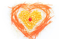 Heart of corn salad. Stock Photography