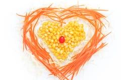 Heart of corn salad. Stock Photography