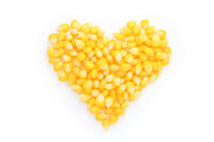 Heart of corn. Stock Photos