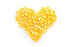 Heart of corn. Stock Photos