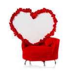 Heart on the couch Stock Images