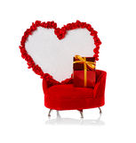 Heart on the couch Stock Image