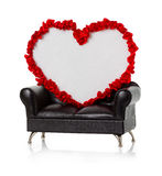 Heart on the couch Royalty Free Stock Image
