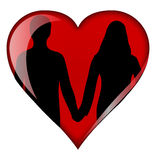 Heart with couple Stock Image