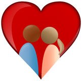 Heart with couple icon Royalty Free Stock Photo