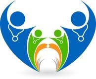 Heart couple logo vector illustration