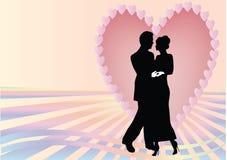 Heart couple rays Royalty Free Stock Image