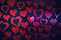 Heart with a crack royalty free stock photo