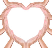 Heart create from hands Royalty Free Stock Photography