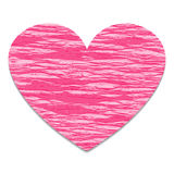 Heart of crepe paper global color Stock Photography