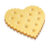 Heart crisp cookie snacks Royalty Free Stock Image