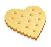 Heart crisp cookie snacks. Two crisp cookies snacks on white background - eps10 vector illustration royalty free illustration