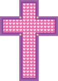 Heart Cross Royalty Free Stock Photography