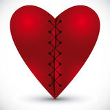 Heart cross linked with a thread. Heart cross linked with a thread, vector illustration Stock Photo