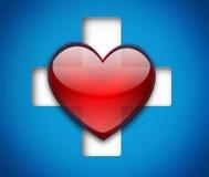 Heart and cross Stock Photos
