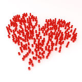 Heart Crowd Royalty Free Stock Photo