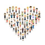 Heart from crowd. stock illustration