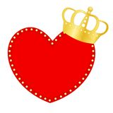 Heart and crown Stock Image