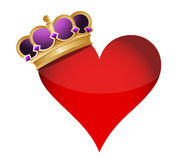 Heart with a crown Royalty Free Stock Photo
