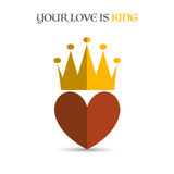 Heart crown Royalty Free Stock Images