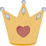 Heart Crown Stock Images