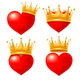 Heart with crown Stock Image