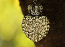 Heart, Crown, Tree, Rhinestone